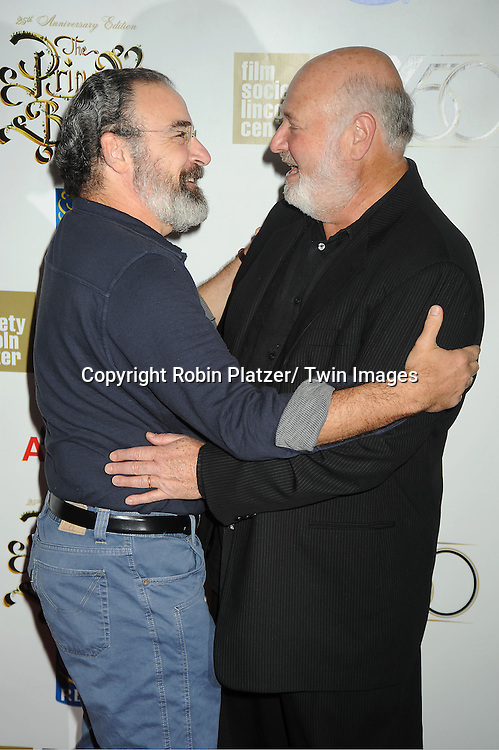 """Mandy Patinkin and Rob Reiner arrive at """"The Princess Bride""""  screening presented by the Film Society of Lincoln Center and the Academy of Motion Pictures Arts and Sciences at the 2012 New York Film Festival on October 2, 2012 at Alice Tully Hall in  New York City. Rob Reiner was the director and the cast included Billy Crystal, Cary Elwes, Caril Kane, Mandy Patinkin, Chris Sarandon and Rboin Wright."""