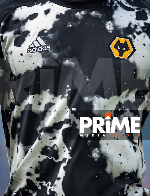 The Wolves pre match training shirt during the Premier League match between Leicester City and Wolverhampton Wanderers at the King Power Stadium, Leicester, England on 10 August 2019. Photo by Andy Rowland.