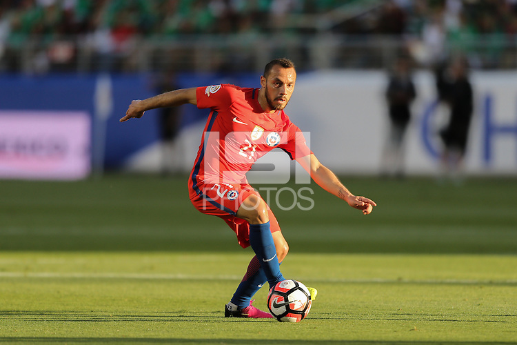 Santa Clara, CA - Saturday June 18, 2016: Marcelo Diaz during a Copa America Centenario quarterfinal match between Mexico (MEX) and Chile (CHI) at Levi's Stadium.