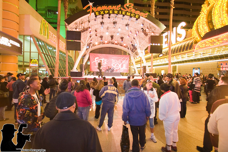 "Fremont Street hosts the Seventh annual ""Taste and Sounds of Soul"" Friday, February 20 through Sunday, February 22 and featuring various food vendors and non-stop entertainment."