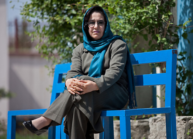 """03 May 2012, Kabul Afghanistan:  Principal of Sorya High School in West Kabul, Naseema Saberi whose institution benefits from the Education Quality Improvement Program (EQIP). Saberi taught an underground school during the Taliban years and realises the importance of education for girls.. """"In the provinces schools get burnt down and girls have acid thrown on them for attending school"""" she says. The only way to improve our society is through education"""". .EQIP is a program designed to increase equitable access to quality basic education, especially for girls, through school grants teacher training and strengthened institutional capacity with support from communities and private providers. Program interventions are primarily targeted toward general education, teacher training and curriculum development. The program is being implemented by the Afghan Ministry of Education. Picture by Graham Crouch/World Bank"""