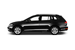 Car Driver side profile view of a 2017 Volkswagen Golf-Variant Trend-Line 5 Door Wagon Side View