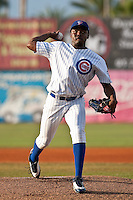 Rafael Dolis (34) of the Daytona Cubs during a game vs. the St. Lucie Mets May 17 2010 at Jackie Robinson Ballpark in Daytona Beach, Florida. St. Lucie won the game against Daytona by the score of 5-2.  Photo By Scott Jontes/Four Seam Images