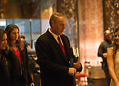 United States Representative Ryan Zinke (Republican of Montana) is seen in the lobby of Trump Tower in New York, NY, USA upon his arrival for a meeting with US President-elect Donald Trump on December 12, 2016. <br /> Credit: Albin Lohr-Jones / Pool via CNP