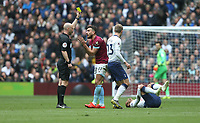 West Ham United's Robert Snodgrass appeals to referee Anthony Taylor as he receives a yellow card<br /> <br /> Photographer Rob Newell/CameraSport<br /> <br /> The Premier League - Tottenham Hotspur v West Ham United - Saturday 27th April 2019 - White Hart Lane - London<br /> <br /> World Copyright © 2019 CameraSport. All rights reserved. 43 Linden Ave. Countesthorpe. Leicester. England. LE8 5PG - Tel: +44 (0) 116 277 4147 - admin@camerasport.com - www.camerasport.com