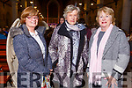 Clare O'Connor (Ballyfinnane), Marion Burke (Castlemaine) and Eileen Daly (Firies) attending the Kerry Choral Union annual Christmas Gala Concert in St. John's Church, Tralee on Sunday evening.