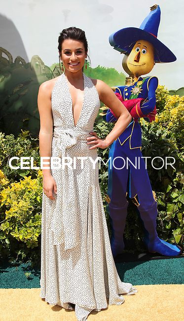 """WESTWOOD, LOS ANGELES, CA, USA - MAY 03: Lea Michele at the Los Angeles Premiere Of """"Legends Of Oz: Dorthy's Return"""" held at the Regency Village Theatre on May 3, 2014 in Westwood, Los Angeles, California, United States. (Photo by Celebrity Monitor)"""