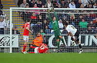 ATTENTION SPORTS PICTURE DESK<br /> Pictured: Dorus de Vries of Swansea City in action <br /> Re: Coca Cola Championship, Swansea City Football Club v Nottingham Forest at the Liberty Stadium, Swansea, south Wales. Saturday 12 December 2009