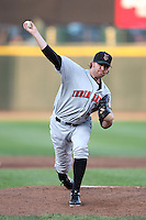 Indianapolis Indians relief pitcher Michael Dubee #38 delivers a pitch during a game against the Rochester Red Wings at Frontier Field on June 18, 2011 in Rochester, New York.  Rochester defeated Indianapolis 12-7.  (Mike Janes/Four Seam Images)