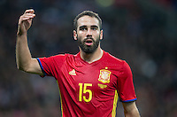 Dani Carvajal of Spain during the International Friendly match between England and Spain at Wembley Stadium, London, England on 15 November 2016. Photo by Andy Rowland.