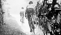 over the cobbles in a rain storm<br /> <br /> 1st Dwars door het Hageland 2016<br /> (pics by Léon Van Bon)