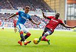 07.04.2018: Rangers v Dundee:<br /> James Tavernier and Genseric Kusunga