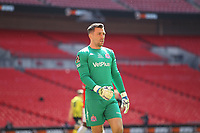 Jay Lynch (AFC Fylde) during the Vanarama National League Playoff Final between AFC Fylde & Salford City at Wembley Stadium, London, England on 11 May 2019. Photo by James  Gil.