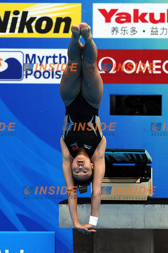 Han WANG China.Women's 1m Springboard Preliminary - Tuffi Trampolino 1 metro.Shanghai 17/7/2011 .14th FINA World Championships.Foto Andrea Staccioli Insidefoto
