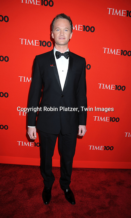 Neil Patrick Harris posing for photographers at the Time Celebrates the Time100 Issue Gala on May 4, 2010 at The Time Warner Center in New York City. The magazine celebrates the 100 Most Influential People in the World.