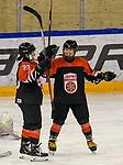 06.01.2020, BLZ Arena, Füssen / Fuessen, GER, IIHF Ice Hockey U18 Women's World Championship DIV I Group A, <br /> Japan (JPN) vs Daenemark (DEN), <br /> im Bild Torjubel nach 1:0, Airi Sato (JPN, #23), Shizuku Omiya (JPN, #10)<br />  <br /> Foto © nordphoto / Hafner
