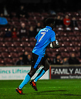 Fleetwood Town's forward Jordy Hiwula (7) during the Sky Bet League 1 match between Scunthorpe United and Fleetwood Town at Glanford Park, Scunthorpe, England on 17 October 2017. Photo by Stephen Buckley/PRiME Media Images