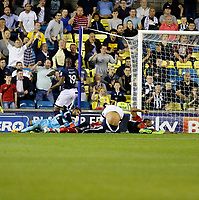 GOAL - Millwall's Tom Elliott makes it 3-3 during the Sky Bet Championship match between Millwall and Ipswich Town at The Den, London, England on 15 August 2017. Photo by Carlton Myrie.