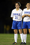 22 November 2013: Duke's Christina Gibbons (31). The University of Florida Gators played the Duke University Blue Devils at Koskinen Stadium in Durham, NC in a 2013 NCAA Division I Women's Soccer Tournament Second Round match. Duke won the game 1-0.