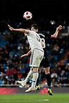 Real Madrid's Nacho Fernandez and CD Leganes's Sabin Merino during Copa Del Rey match between Real Madrid and CD Leganes at Santiago Bernabeu Stadium in Madrid, Spain. January 09, 2019. (ALTERPHOTOS/A. Perez Meca)<br />  (ALTERPHOTOS/A. Perez Meca)
