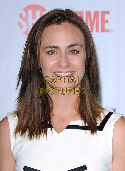 DIANA FARR .The CBS, CW & Showtime TCA Party held at The Huntington Library in San Marino, California, USA. .August 3rd, 2009                                                                   headshot portrait white .CAP/RKE/DVS.©DVS/RockinExposures/Capital Pictures.