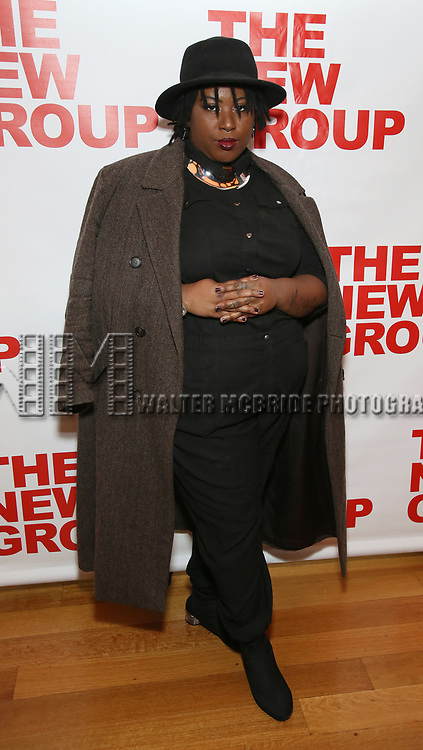 """Nichole Turner attends the Off-Broadway Opening Night Premiere of  """"Jerry Springer-The Opera"""" on February 22, 2018 at the Green Fig Urban Eatery in New York City."""
