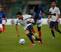 Davide Astori  and Blaise Matuidi  during the  friendly  soccer match,between Italy  and  France   at  the San  Nicola   stadium in Bari Italy , September 01, 2016<br /> <br /> amichevole di calcio tra le nazionali di Italia e Francia