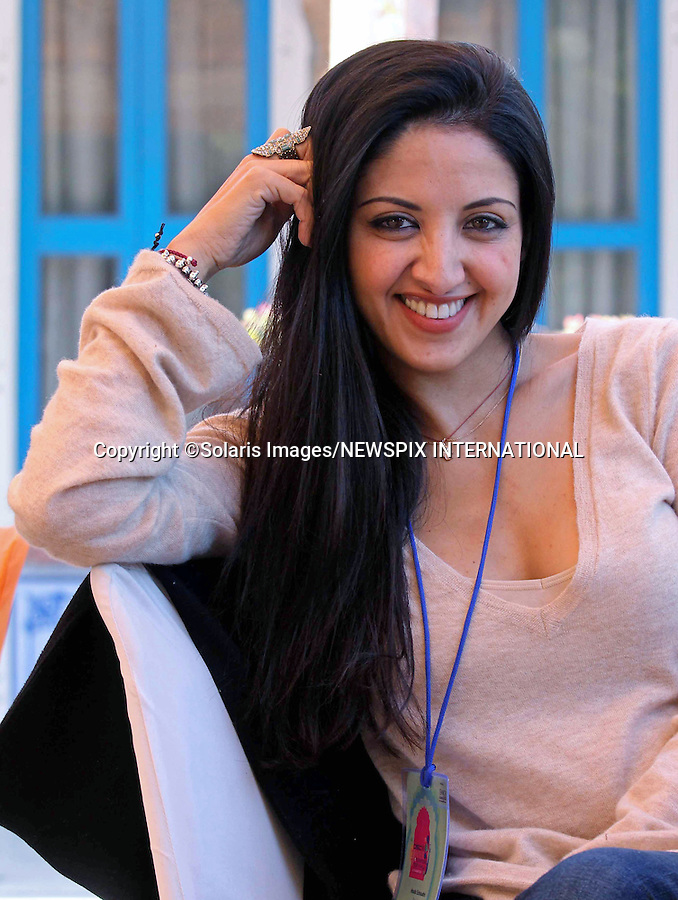 """Jaipur,India-24/01/2012: JAIPUR LITERATURE FESTIVAL 2012.HOUDA ECHOUAFNI, Arab-British actress attends the Jaipur Literature Festival in Jaipur..The festival is one of Asia's finest with over 200 of the world's best authors attending the event that runs from 20th to 24th January 2012 .Mandatory Photo Credit: ©Ramesh Nair-Solaris Images/NEWSPIX INTERNATIONAL..**ALL FEES PAYABLE TO: """"NEWSPIX INTERNATIONAL""""**..PHOTO CREDIT MANDATORY!!: NEWSPIX INTERNATIONAL(Failure to credit will incur a surcharge of 100% of reproduction fees)..IMMEDIATE CONFIRMATION OF USAGE REQUIRED:.Newspix International, 31 Chinnery Hill, Bishop's Stortford, ENGLAND CM23 3PS.Tel:+441279 324672  ; Fax: +441279656877.Mobile:  0777568 1153.e-mail: info@newspixinternational.co.uk"""