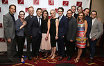 The Dear Evan Hansen creative team: writers Justin Paul and Benj Pasek, producer Stacey Mindich, writer Steven Levenson, and director Michael Greif with cast attends The New Dramatists' 68th Annual Spring Luncheon at the Marriott Marquis on May 16, 2017 in New York City.