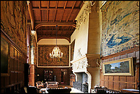 BNPS.co.uk (01202 558833)<br /> Pic: Sworders/BNPS<br /> <br /> The tapestries hanging in the great hall today.<br /> <br /> The &pound;1million contents of a majestic 16th century English country house including its eye-catching tapestries, paintings and antique furniture have emerged for sale.<br /> <br /> The jewel in the crown in the everything must go sale at North Mymms Park is a collection of 19 large European tapestries which are each valued at &pound;20,000.<br /> <br /> The 12ft by 17ft tapestries were crafted in weaving workshops across northern Europe from the mid 16th to mid 18th century and have hung in the Grade I listed manor 'of exceptional interest' near Colney, Herts, for over 100 years. <br /> <br /> They were purchased by Anglo-American banker Walter Hayes Burns who acquired the estate in 1893 to accommodate his growing art collection and whose family owned it until 1979.