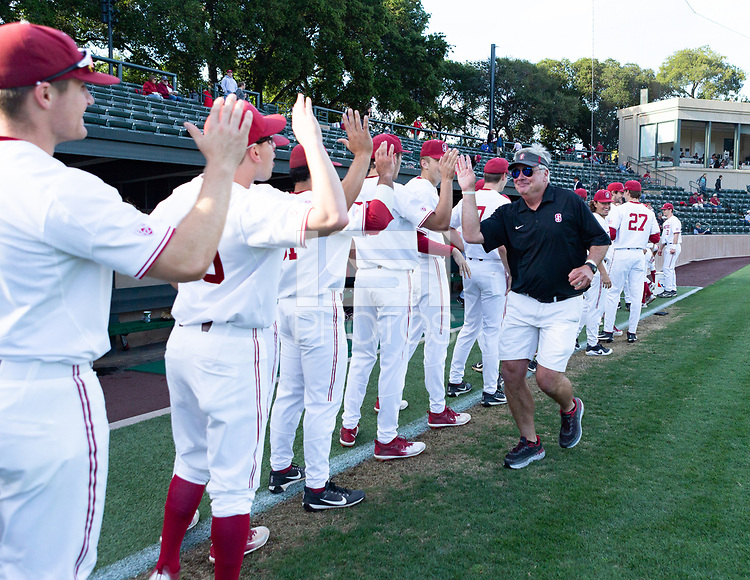Stanford, California - April 24, 2018: Stanford Baseball defeats Pacific 4-1 at Sunken Diamond in Stanford, California.