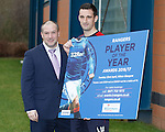 Lee Wallace promotes the Rangers Player of the Year awards wth sponsor Scott Whyte