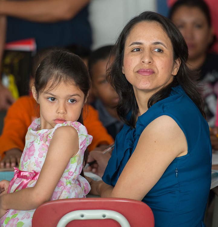 Parents and students participate in a Family Learning Academy at Lee High School, October 18, 2014.