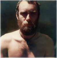 Photographer Glenn Busch in New Zealand c.1976 SX-70 Polaroid image