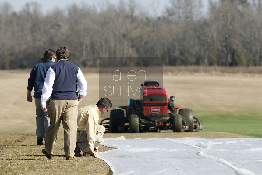 A field of turf at Jennings Turf Farms in Riddleville, Ga. on Thursday, Dec. 28, 2006. About 100,000 square feet of the turf will be trucked to Miami to be used for the Super Bowl game.