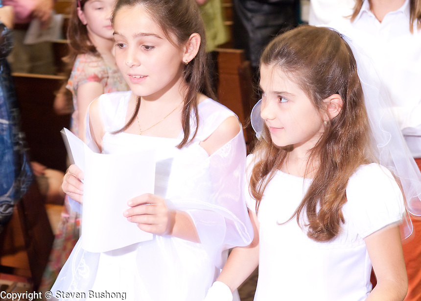 St. Sebastian Catholic Church, Los Angeles.  French First Holy Communion.  Communion Francais.  30 Mai 2010.