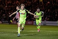 Bolton Wanderers' Ronan Darcy (left) celebrates scoring his side's first goal <br /> <br /> Photographer Andrew Kearns/CameraSport<br /> <br /> The EFL Sky Bet League One - Lincoln City v Bolton Wanderers - Tuesday 14th January 2020  - LNER Stadium - Lincoln<br /> <br /> World Copyright © 2020 CameraSport. All rights reserved. 43 Linden Ave. Countesthorpe. Leicester. England. LE8 5PG - Tel: +44 (0) 116 277 4147 - admin@camerasport.com - www.camerasport.com