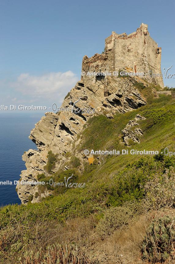 Isola di Gorgona. Torre vecchia. Old Tower.Gorgona island.