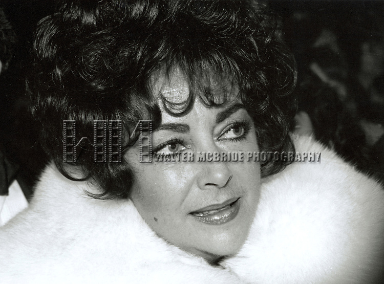 Elizabeth Taylor.attending Night of 100 Stars.Radio City Music Hall, New York City.