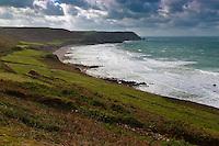 Europe/France/Normandie/Basse-Normandie/50/Presqu'île du Cotentin/Pointe de La Hague/Auderville: La Baie d' Ecalgrain et le Nez de Jobourg