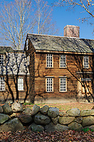 Hartwell Tavern, location of Paul Reveres capture by the British, located along Battle Road Trail, Minute Man National Historical Park, Massachusetts, USA