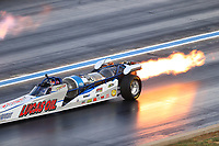 Jul 22, 2017; Morrison, CO, USA; NHRA jet dragster driver XXXX during qualifying for the Mile High Nationals at Bandimere Speedway. Mandatory Credit: Mark J. Rebilas-USA TODAY Sports