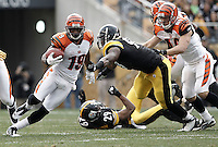PITTSBURGH, PA - DECEMBER 04: Brandon Tate #19 of the Cincinnati Bengals returns a punt against the Pittsburgh Steelers during the game on December 4, 2011 at Heinz Field in Pittsburgh, Pennsylvania.  (Photo by Jared Wickerham/Getty Images)