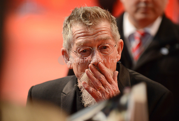 "John Hurt attending the ""The Grand Budapest Hotel"" Premiere at at the 64th Annual Berlinale International Film Festival at Berlinale Palast, Berlin, Germany, 06.02.2014. Photo by Janne Tervonen/insight media /MediaPunch ***FOR USA ONLY***"