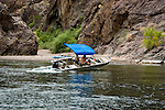 Boating on the Colorado River below Hoover Dam on border of Arizona, AZ, Nevada, NV, tourism, vacation, sports, action, motor boat, image nv415-18661.Photo copyright: Lee Foster, www.fostertravel.com, lee@fostertravel.com, 510-549-2202