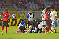 PUERTO ESPANA, Trinidad y Tobago - March 28, 2017: Mexico defeated Trinidad y Tobago 1-0 in a CONCACAF World Cup Qualifier match at Hasely Crawford Stadium.