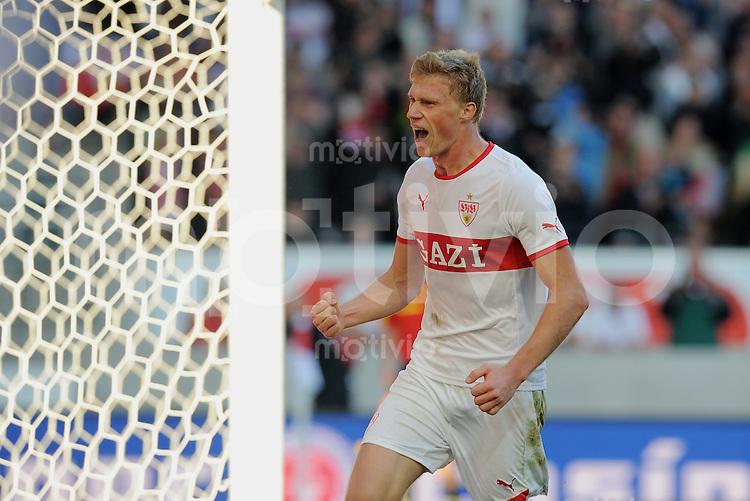 FUSSBALL   1. BUNDESLIGA  SAISON 2011/2012   9. Spieltag    15.10.2011 VfB Stuttgart - TSG 1899 Hoffenheim  JUBEL Stuttgart;  Torschuetze zum 2-0  Pavel Pogrebnyak