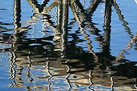 Dock reflections, Sitka Harbor, Sitka, Alaska