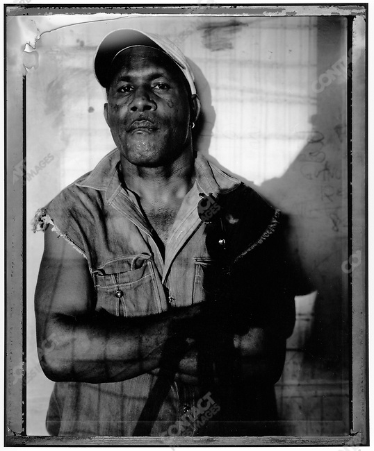"Allan ""The General"" Omaro, Raskols, gangs of Port Moresby, Papua New Guinea, January 2004"