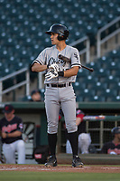 AZL White Sox third baseman Micah Coffey (15) at bat during an Arizona League game against the AZL Indians 1 at Goodyear Ballpark on June 20, 2018 in Goodyear, Arizona. AZL Indians 1 defeated AZL White Sox 8-7. (Zachary Lucy/Four Seam Images)
